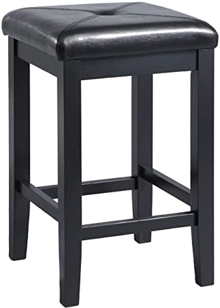Miraculous Crosley Furniture Upholstered Square Seat Bar Stool Set Of 2 24 Inch Black Uwap Interior Chair Design Uwaporg