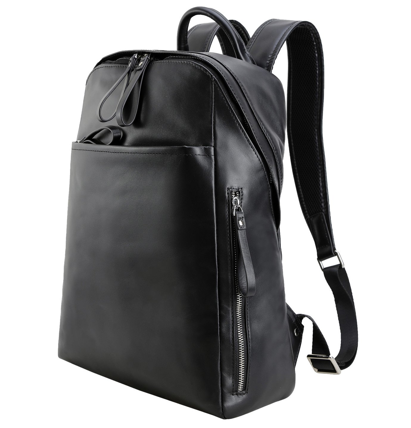 Polare 14'' Nappa Real Leather Backpack School College Laptop Computer Backpack Lightweight