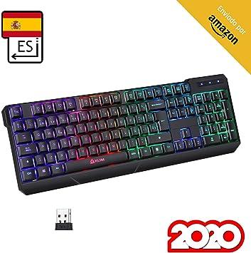 KLIM™ Chroma Wireless - Teclado inalámbrico Gaming ESPAÑOL + ...