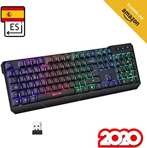 KLIM™ Chroma Wireless - Teclado inalámbrico Gaming ESPAÑOL + ...