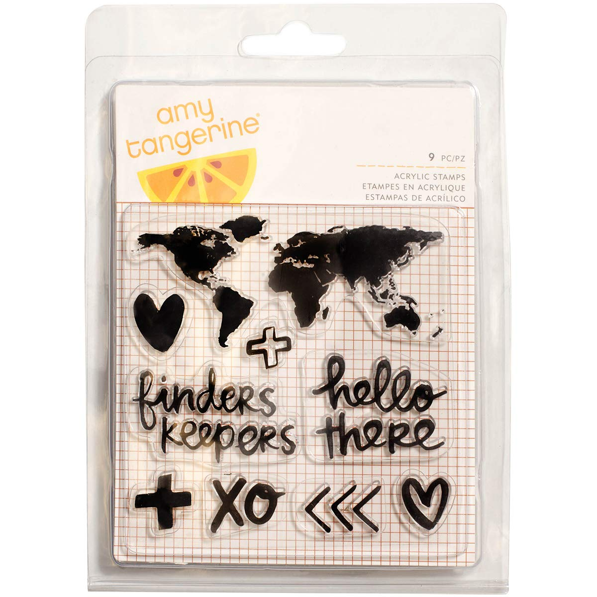 Finders Keepers Collection Clear Acrylic Stamps Map (6 Pack)