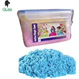 GLeo Active Magic Clay Sand 1 KG in Air Tight Container with 6 Nos. of Moulds.