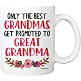 Baby Reveal Mug For Great-Grandmother - Only The Best Grandmas Get Promoted To Great Grandma Coffee Mug - 11oz Cup For New Mo