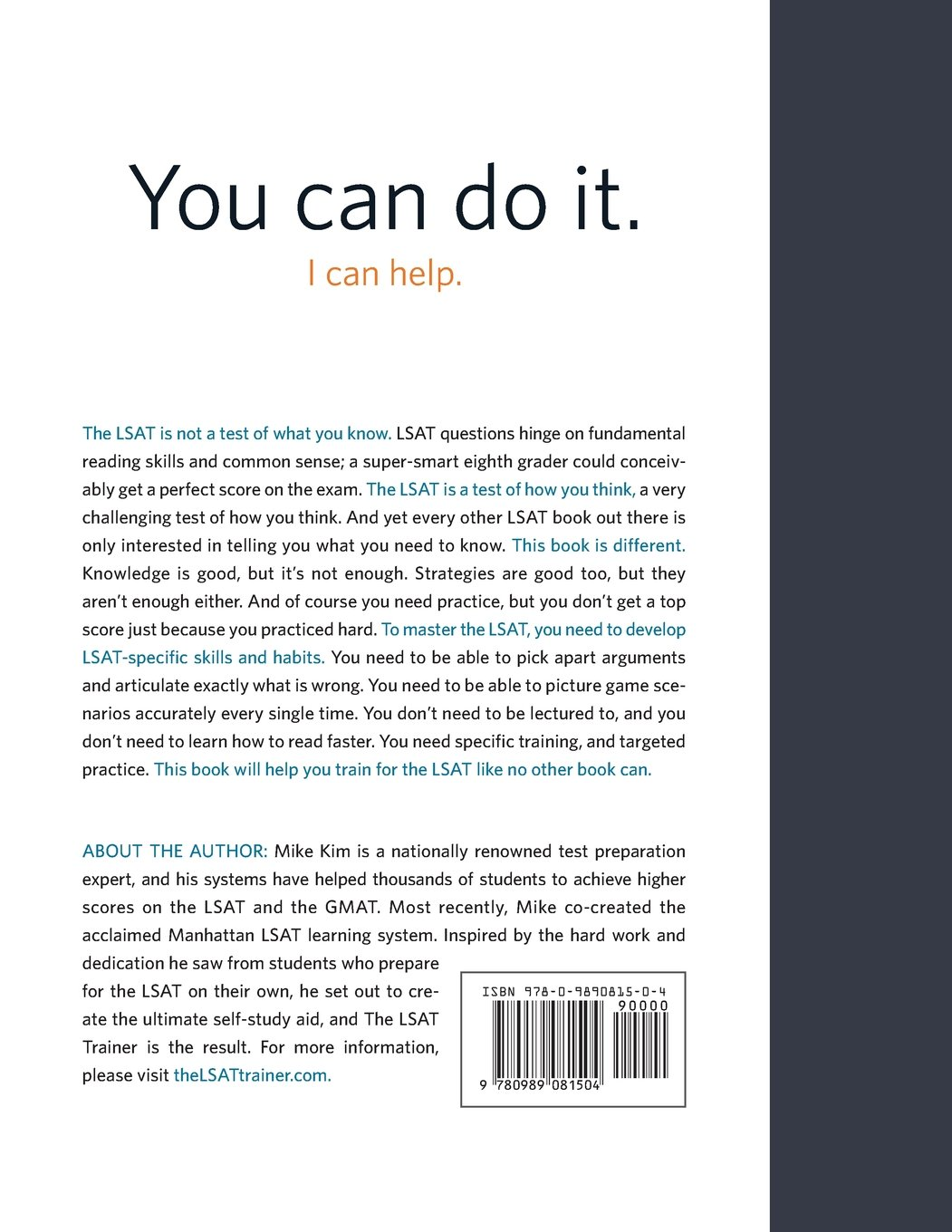 Amazon.fr - The LSAT Trainer: A remarkable self-study guide for the