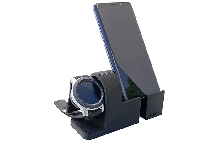 Artifex Design Stand Configured for Samsung Galaxy Watch, Smartwatch Charging Stand, Artifex Charging Dock Stand (Galaxy Combo)