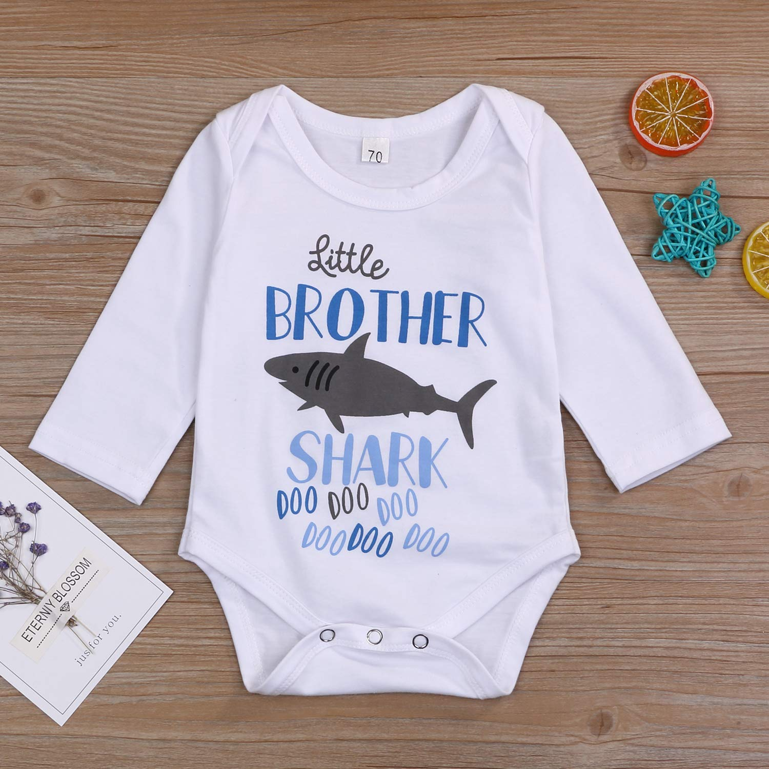 Sibling Shark Shirts for Baby Toddler Boys and Girls T-Shirt Matching Big Sister Little Brother T