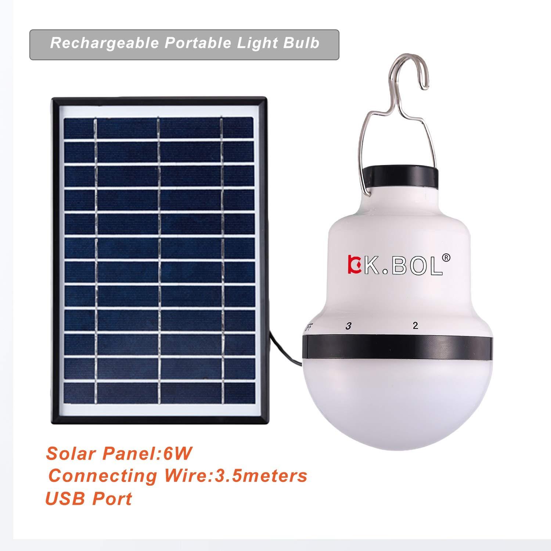 BOL solar LED lámpara de luces para el hogar luz interior luz de emergencia al aire libre senderismo tienda de campaña Camping noche luz de trabajo ...