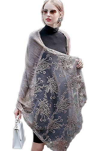 La Mujer Elegante Encaje Patchwork Cálida Manta De Algodón Wrap Shawl Scarf