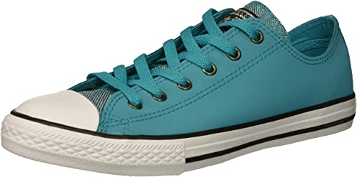 Star Glitter Leather Low Top Sneaker