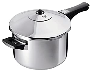 Kuhn Rikon Duromatic Stainless-Steel Saucepan Pressure Cooker - 7.4-Qt