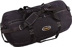 "Ledmark Super Tough Heavyweight Cotton Canvas Duffle Bag, Black, Size XL, 36"" x 20"""