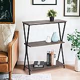 Aingoo 3 Shelf Bookcase, Vintage Industrial