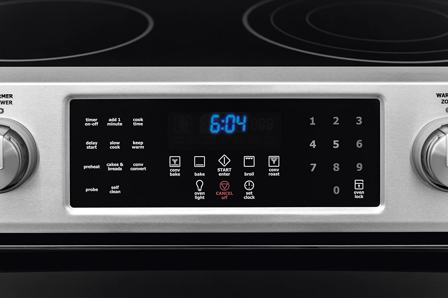 Convection Electrolux EI30EF45QSIQ-Touch 30 Stainless Steel Electric Slide-In Smoothtop Range