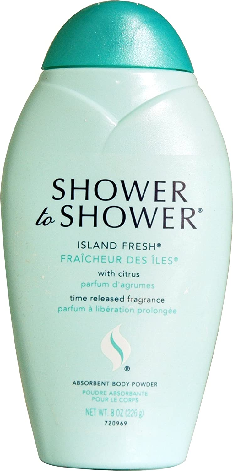 amazon com shower to shower absorbent body powder island fresh 8 amazon com shower to shower absorbent body powder island fresh 8 ounce bath and shower gels beauty