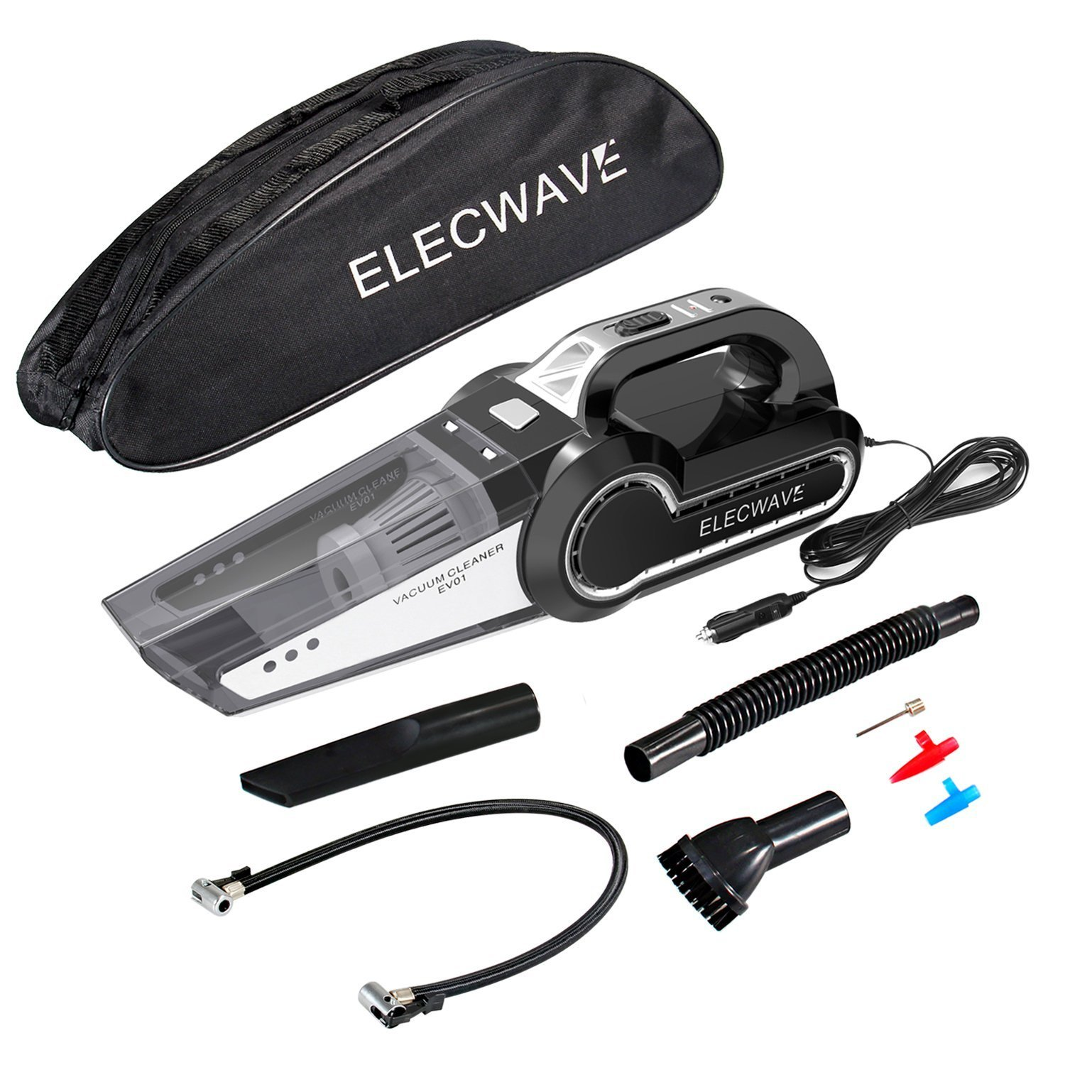 Elecwave V00-1296N-01 Car Vacuum, Black