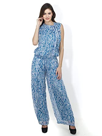 766bae32937b Mayra Women s Polyster Partywear Jumpsuit  Amazon.in  Clothing   Accessories