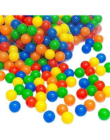 LittleTom Pelotas multicolores de plástico Ø7cm de diámetro | 100 pequeñas Bolas de colores para bebés