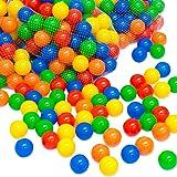 LittleTom Bällebadbälle Ø 7cm Bälle-Set für Bällebad bunte Spielbälle Kinder-Bälle für Bällebad-Pool Plastikbälle Babybälle | 5 gemischte Farben Gelb Rot Blau Grün Orange | geprüfte Qualität
