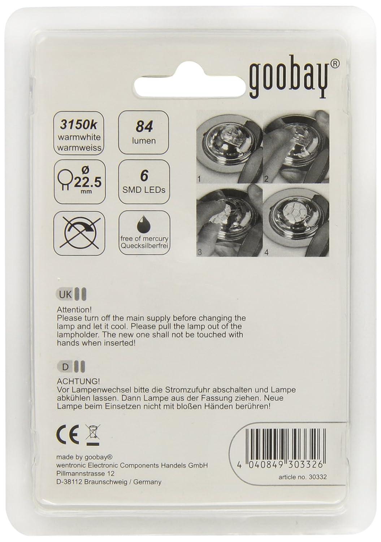 LED-Chip für G4 Lampensockel mit 6 SMD LEDs; LED G4S weiß 6 SMD5050 LED 96 LM