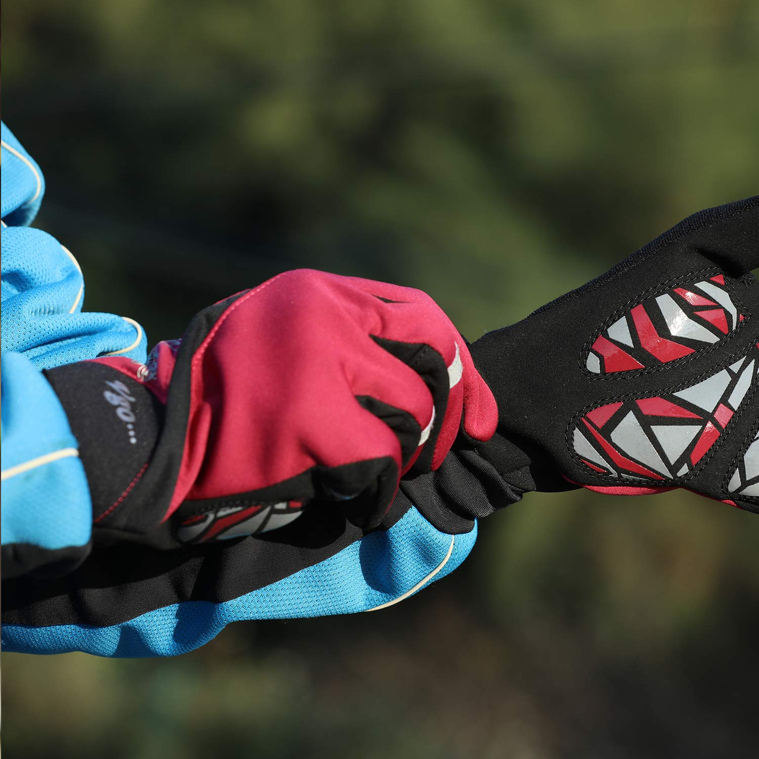 Outdoor Sports Gloves Vgo.. Riding Gloves Ladies Bicycle Gloves,Touch Recognition Full Finger Bike Gloves 1Pair,Size M,Red,SL75147 Laborsing Safety Products Inc.