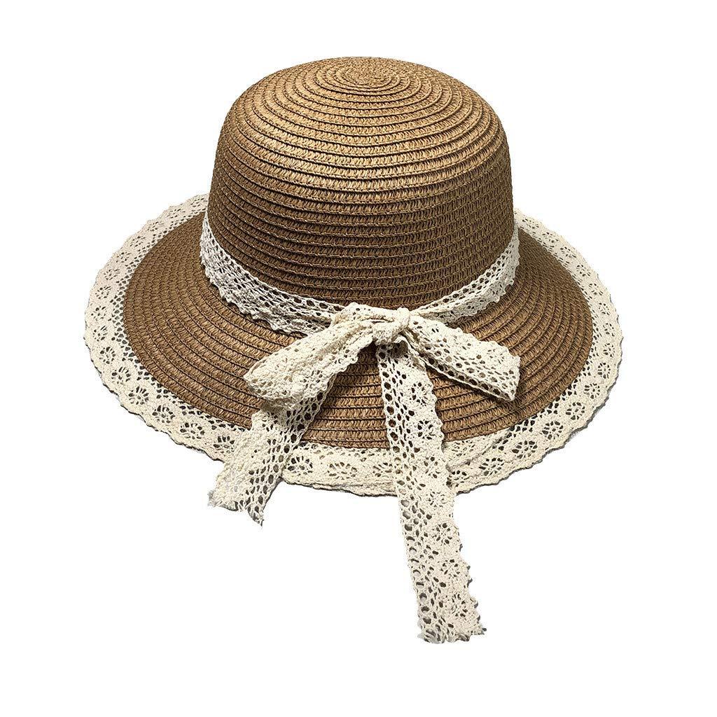 Longra💞 Sombrero de Playa de la Flor de Las Mujeres de la Paja de ...