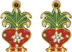 Insync India Kalash Sticker Diwali Decoration Rangoli/Home Décor//Gift for Home/Interior Handcrafted/Floor Stickers/Wall Stickers/Wall Decorations/Pooja Tample Mandir Decor/Lucky Charm