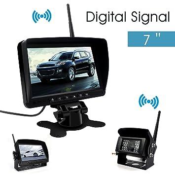 """Digital Cámara Visión Trasera Inalámbrica-Directtyteam 7"""" TFT LCD Monitor 18 IR LED Visión"""