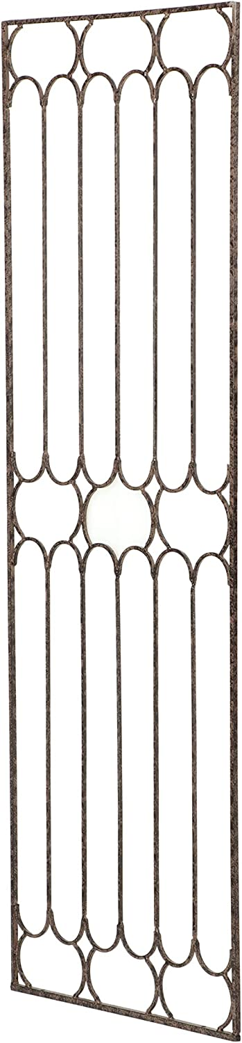 H Potter Garden Trellis for Climbing Plants Large Metal Wall Trellises Tall Vertical Wrought Iron Panels for Home Garden Outdoor Decoration Fence Privacy Screen Outdoors Ivy Rose Clematis