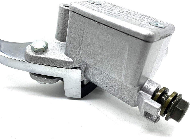 Pompe de Frein Moto Roue Avant Cylindre de Frein /à Disque Pompe hydraulique Assy Moto Pomper Niveau Argent 125cc