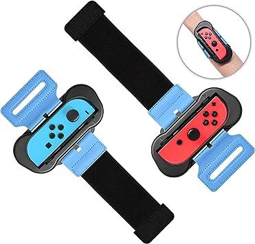 2 Unidades Just Dance 2019-Wrist Band para Nintendo Switch Controller, FASTSNAIL Correa elástica de muñeca para Nintendo Switch Joy con para Adultos y niños: Amazon.es: Electrónica
