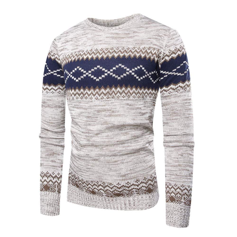 Men's Sweater Classic, Honestyi Men Autumn Winter Pullover Knitted Top Printed Outwear Coat Jacket Slim Fit Hoody Boy Teens Cardigan Blouse Hoodie Sweatshirt T-Shirt Men' s Sweater Classic