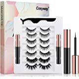 [2020 Upgrade] Magnetic Eyelashes, 7 Pairs Magnetic Lashes and Eyeliner Kit, No Glue Needed, Natural Look Magnetic Fake…
