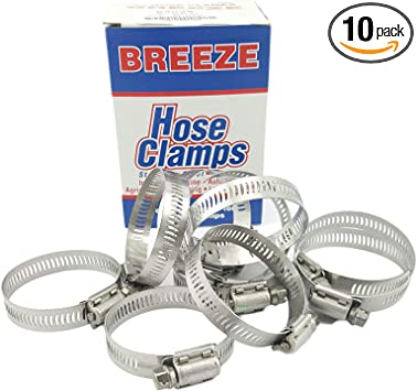 SAE Size 44 Worm-Drive Breeze Liner Stainless Steel Hose Clamp Pack of 10 Pack of 10 1//2 Band Width 2-5//16 to 3-1//4 Diameter Range 1//2 Band Width 2-5//16 to 3-1//4 Diameter Range NOSLP B009SCYOBW