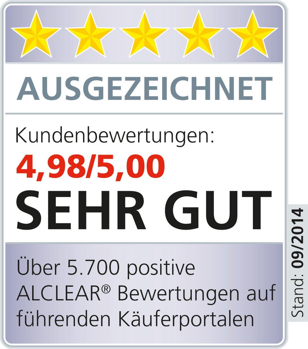 wei/ß,2er Set 160 x 30 mm ALCLEAR 5516030H Schleifpad Hart