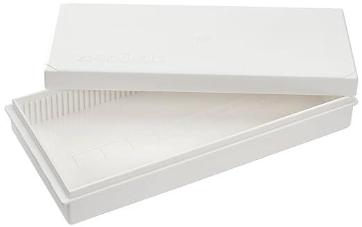 Caja deslizante para 50 diapositivas, blanco, poliestireno, neolab 2-2315 -