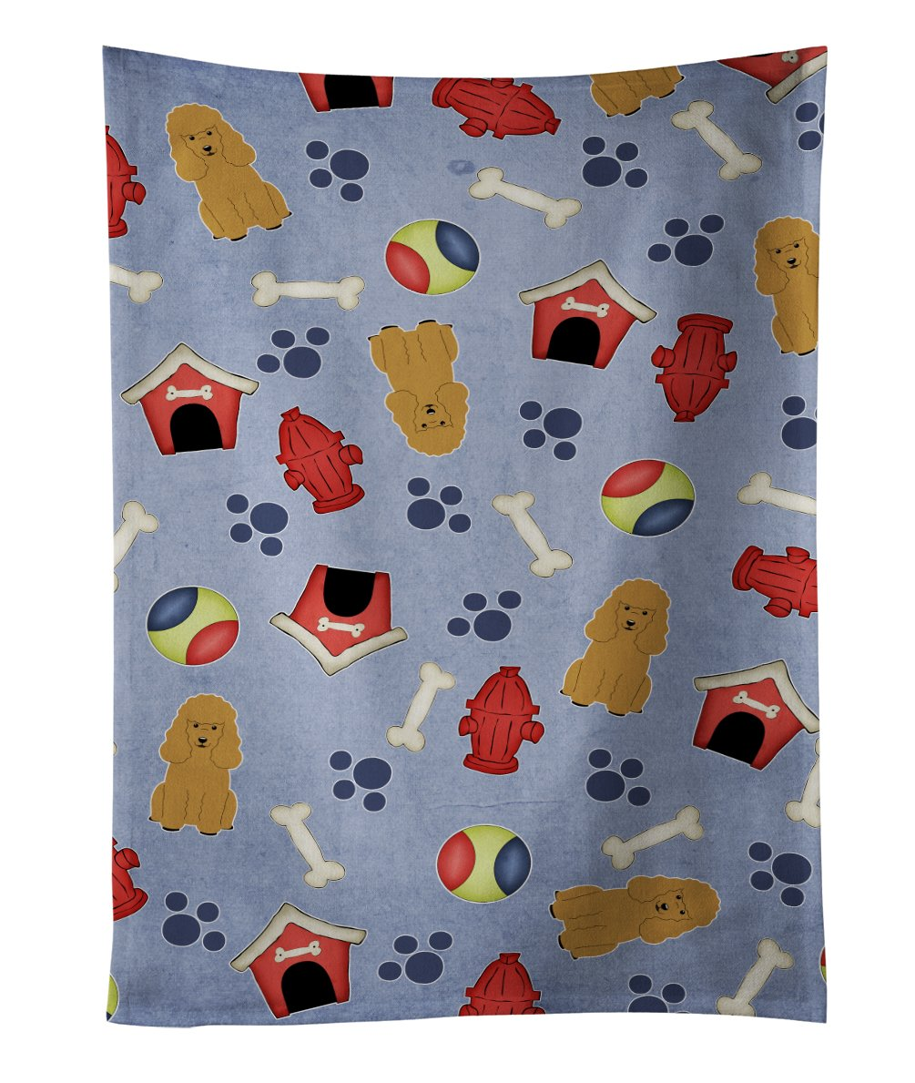 Multicolor 25 x 15 Carolines Treasures BB2743KTWL Dog House Dachshund Red Brown Kitchen Towel