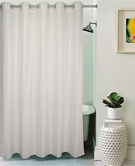 Lushomes Unidyed White Polyester Shower Curtain With 10 Eyelets Length 68 Feet Width 6 Amazonin Home Kitchen