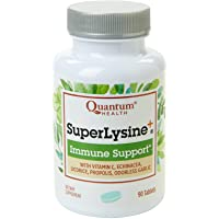 Quantum Health Super Lysine+ / Advanced Formula Lysine+ Immune Support with Vitamin C, Echinacea, Licorice, Propolis…