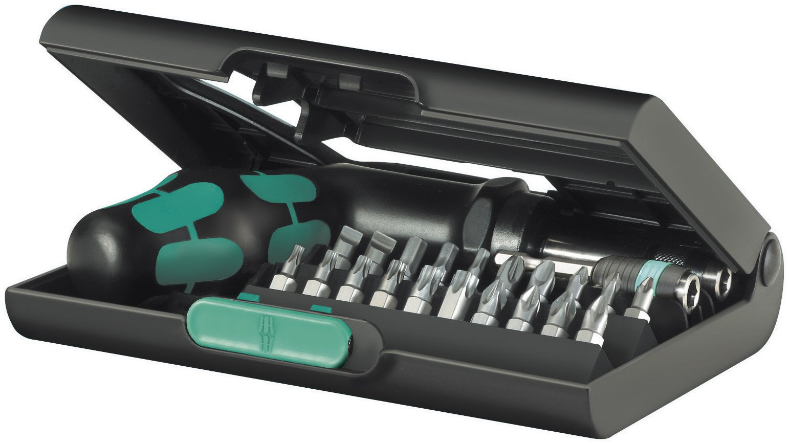 Wera KK 90 SAE Kraftform Ratchet and Bit Set with Rapidaptor One-Hand Technology, 22-Piece