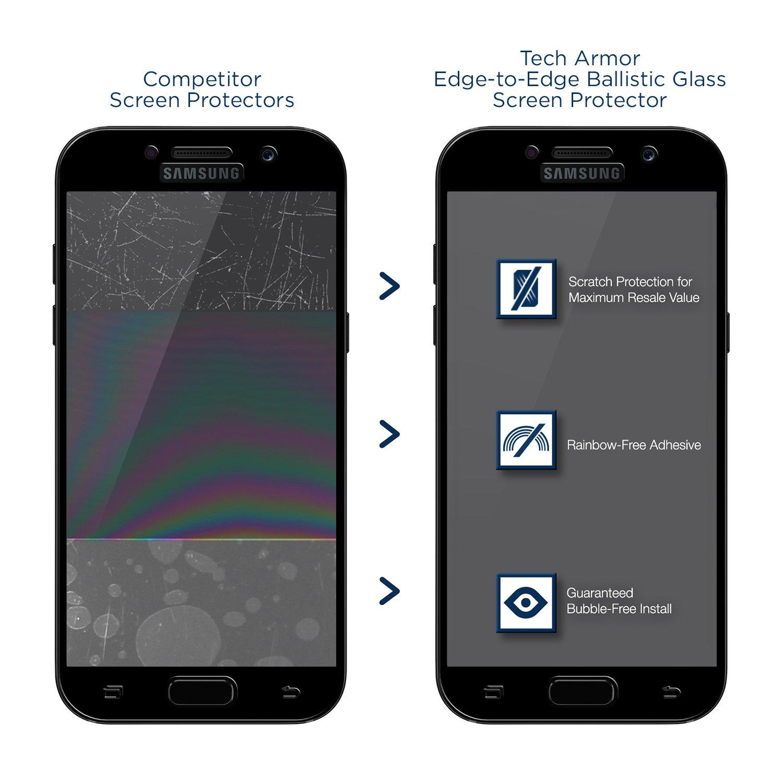 Tech Armor Samsung Galaxy A5 2017 Edge to Edge Ballistic Glass Screen Protector Black