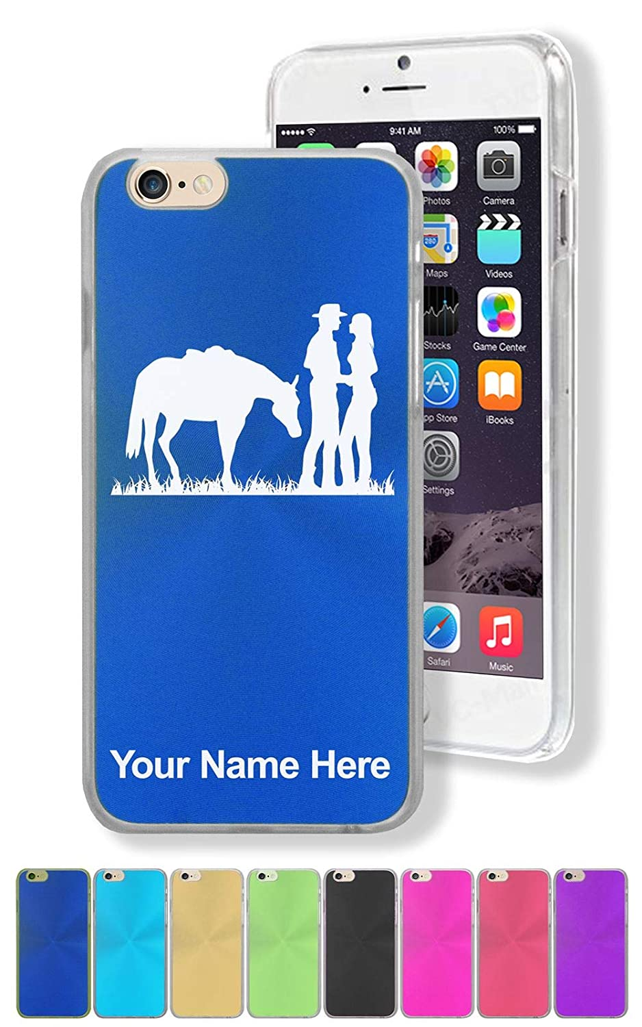 Case for iPhone 8, Romantic Country Western, Personalized Engraving Included