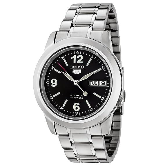 Seiko SNKE63 - Reloj analógico automático para Hombre con Correa de Acero Inoxidable, Color Plateado: Seiko: Amazon.es: Relojes