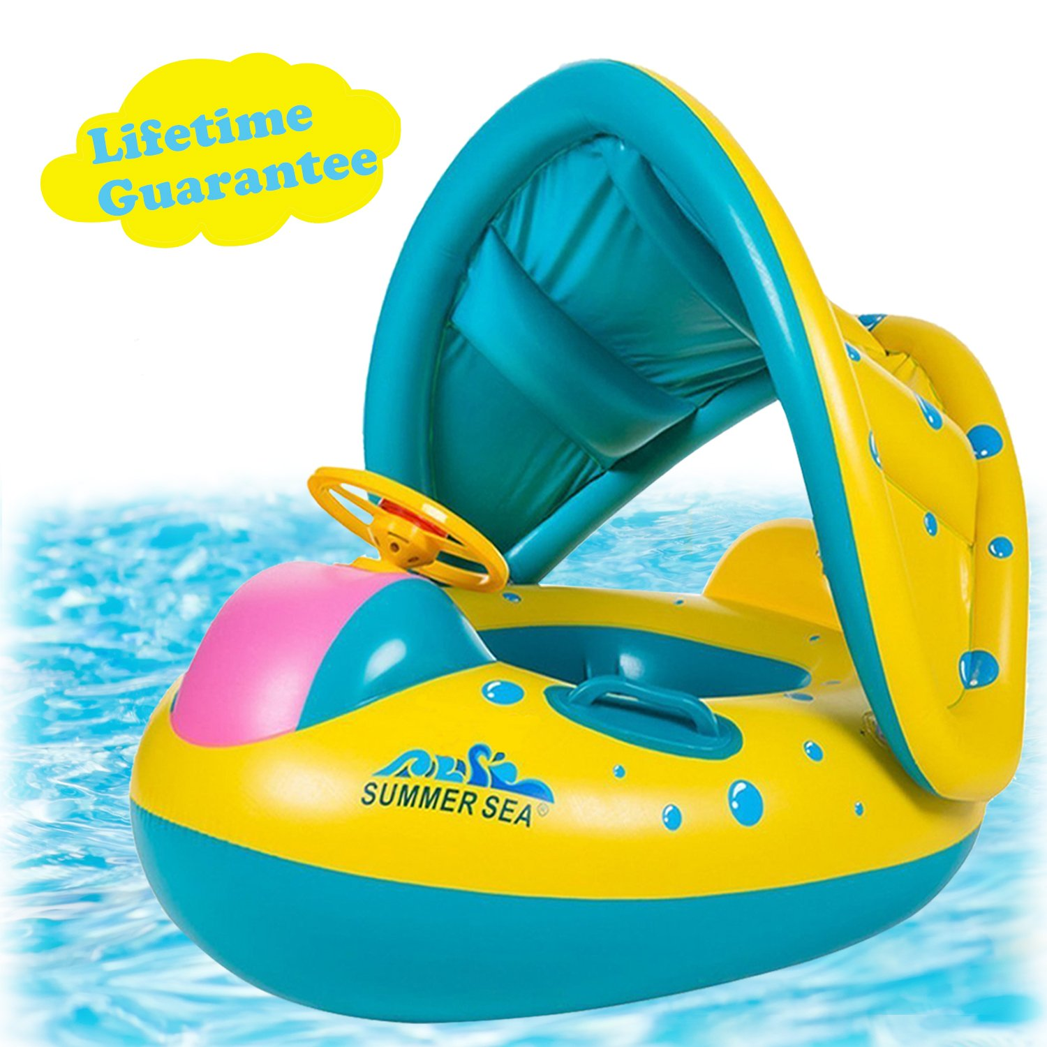 punada Baby Pool Float with Canopy Inflatable Swimming Floats for Kids by punada