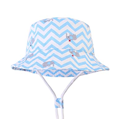 67acc222bda10 Bonvince Sun Protection Hat for Kids Toddler Boys Girls Wide Brim Summer  Play Hat Cotton Baby