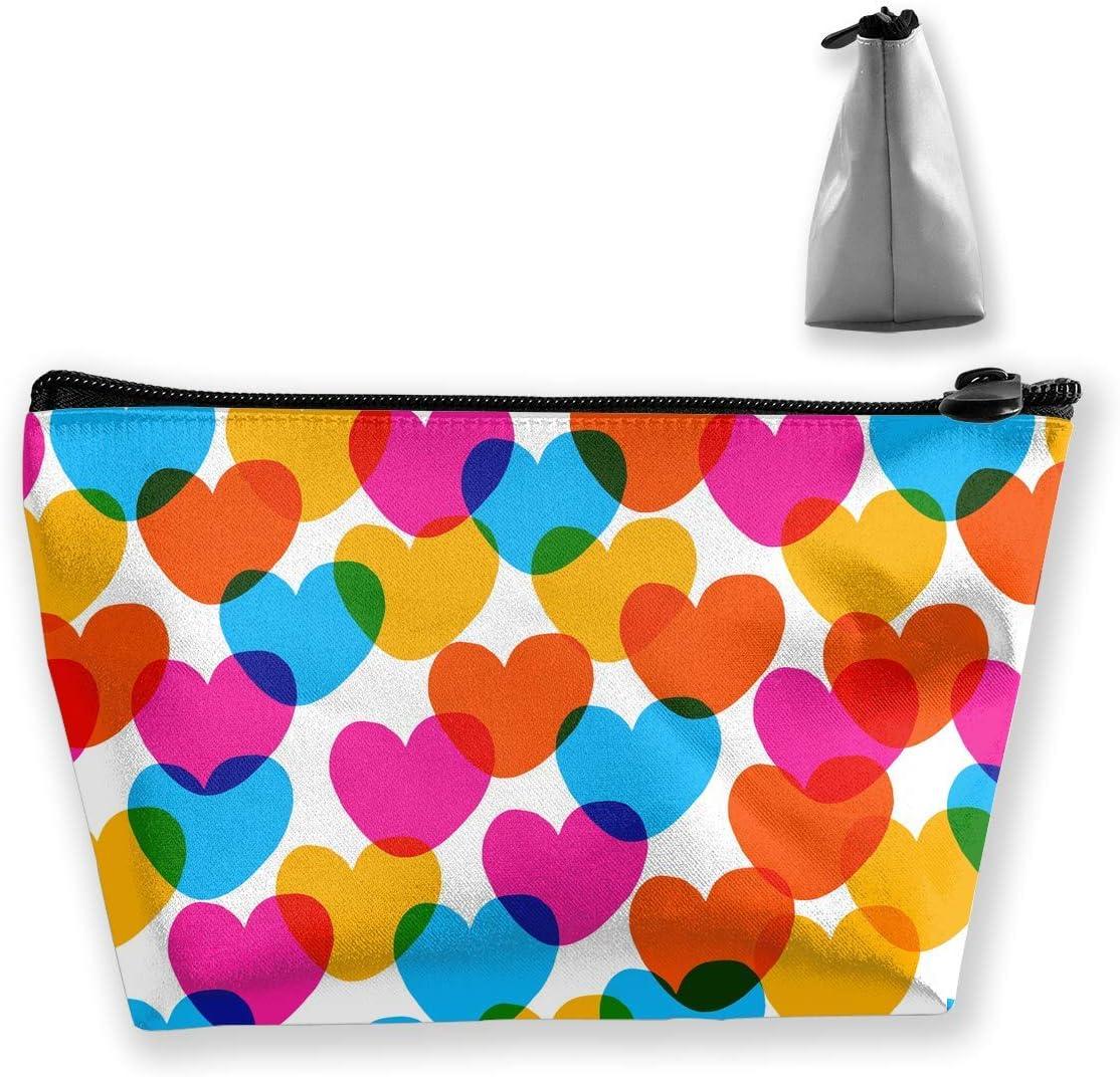 Bolsa de Maquillaje Estuche de Viaje Corazón de Amor en Colores Bonitos Patrón Organizador de Almacenamiento Impreso para Mujeres niñas multifunción: Amazon.es: Equipaje