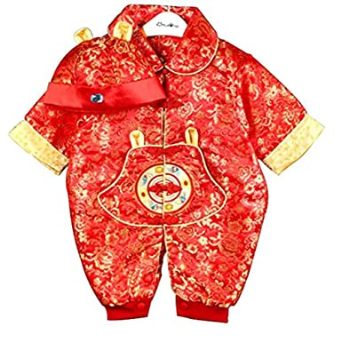 ef8d02a84 CRB Fashion Baby Newborn Boy Girls Chinese New Year Asian Shirt Clothes Top  Pants Trousers Romper