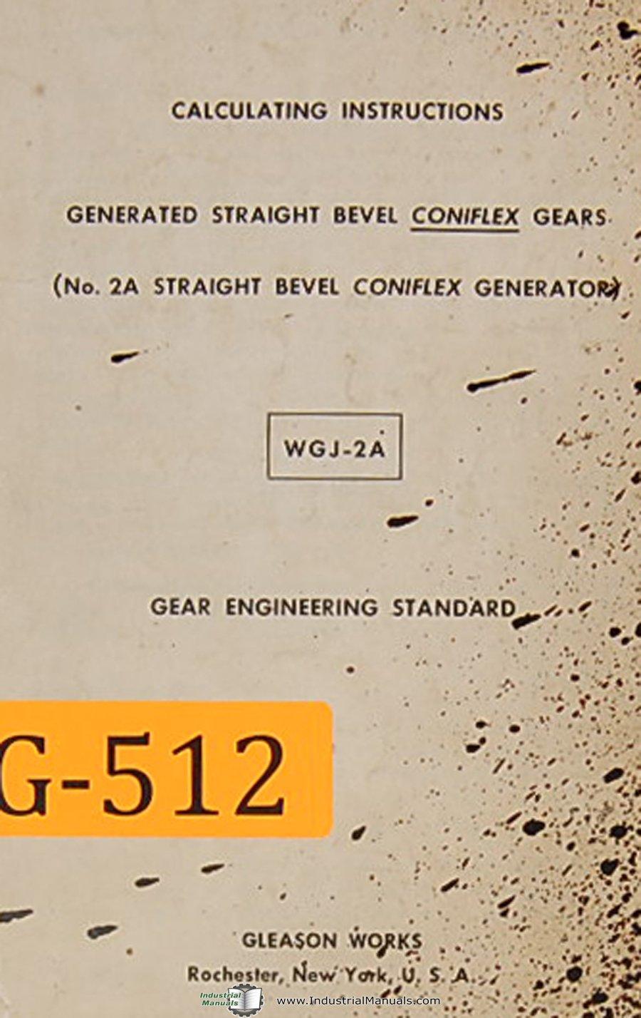 gleason works sgj 2a no 2a straight bevel coniflex generator rh amazon com Plastic Bevel Gears Amboid Gear
