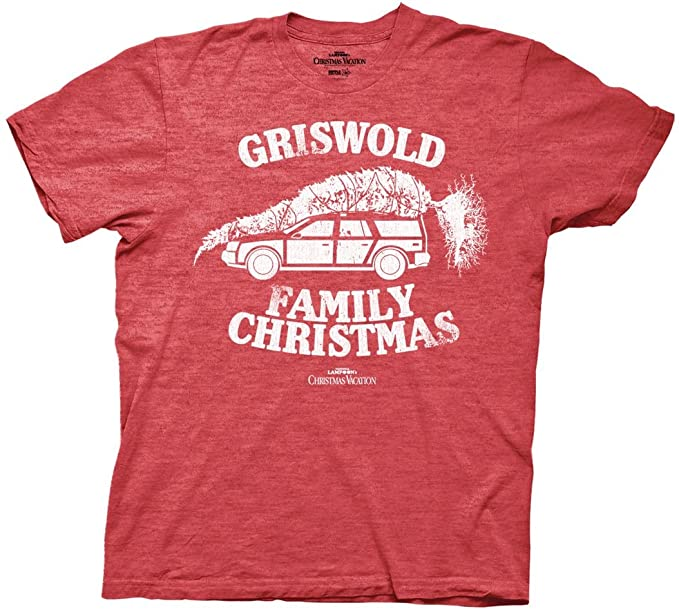 national lampoon griswold family christmas vacation heather green mens t shirt small heather