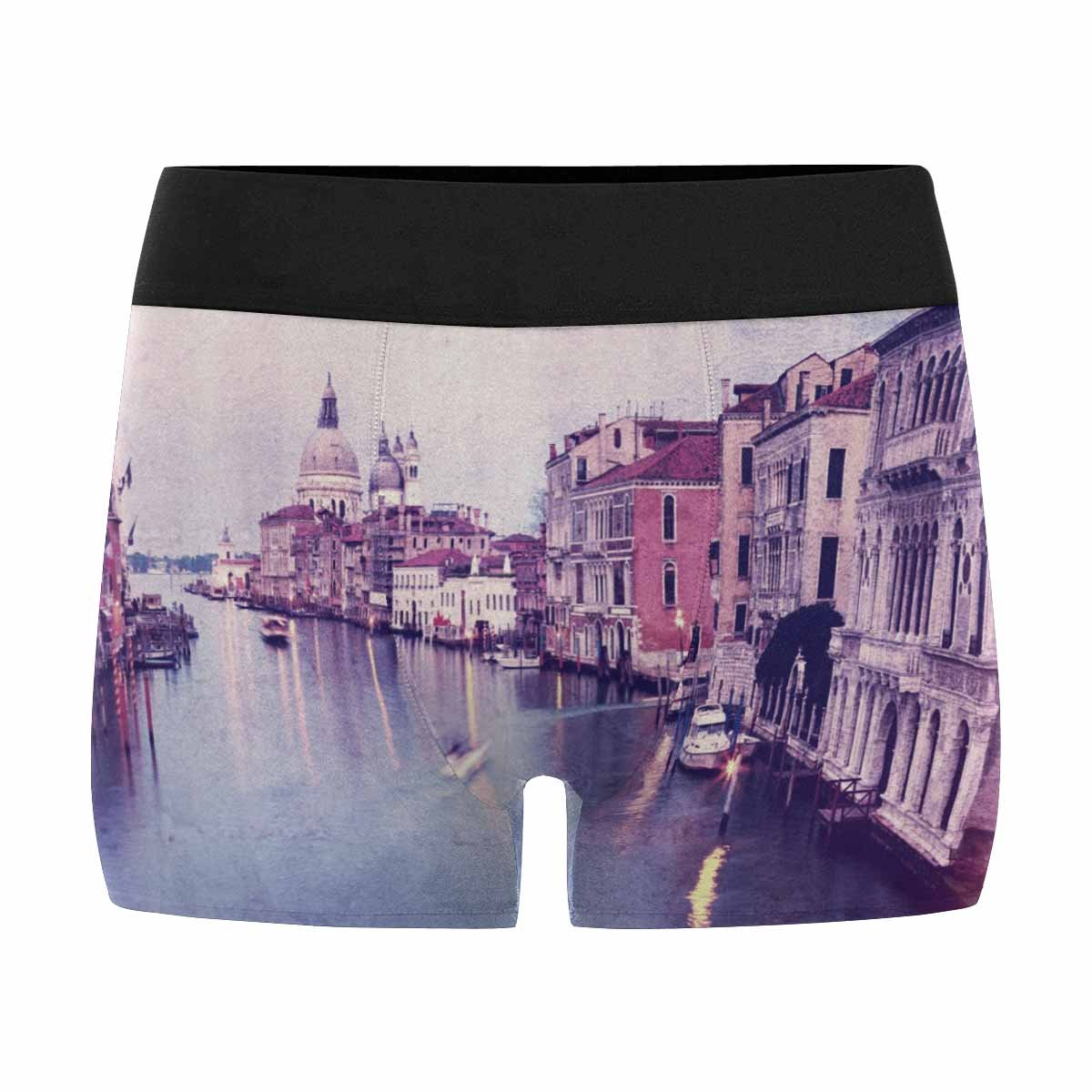 XS-3XL Italy Venice INTERESTPRINT Custom Mens Boxer Briefs Retro Style Image of Grand Canal at Sunset