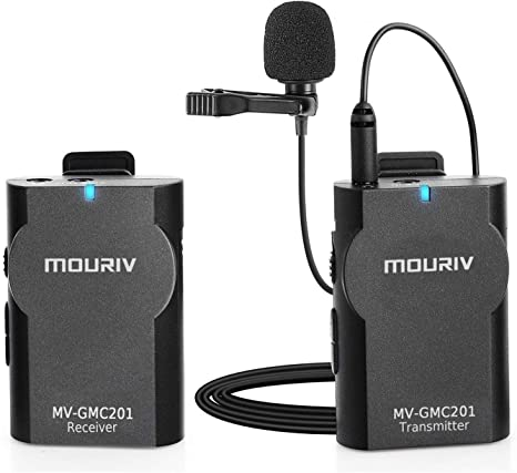 MOURIV GMC201 2.4G Sistema de micrófono inalámbrico universal de ...